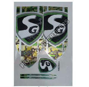 Designer Cricket Bat Sticker
