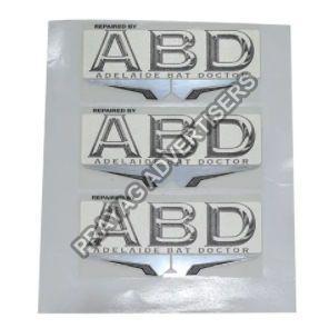 Polycarbonate 3D Screen Label