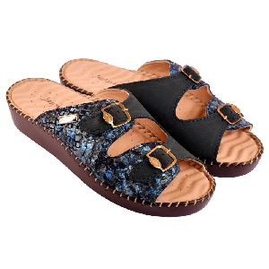 Ladies Leather Orthopaedic Slippers
