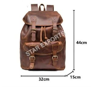 Mens Leather Backpack Bags