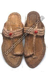 Ladies 3 Braid Kolhapuri Chappal