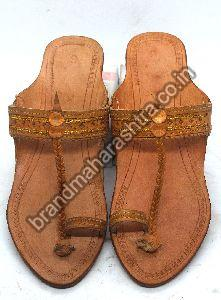 Ladies Straight Belt Box Heel Kolhapuri Chappal