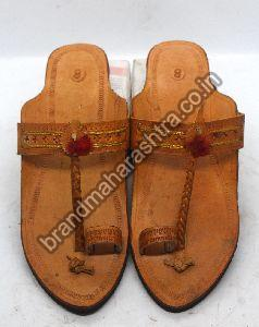 Ladies Straight Belt Rubber Sole Kolhapuri Chappal