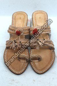 Ladies Triple Strap Kolhapuri Chappal
