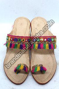 Ladies Lokar Box Heel Kolhapuri Chappal