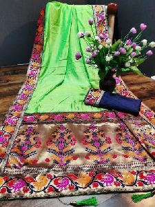 Embroidered Jacquard Saree