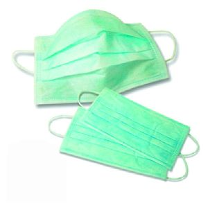 Green 3 Ply Face Masks