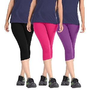 Ladies Cotton Lycra Capri