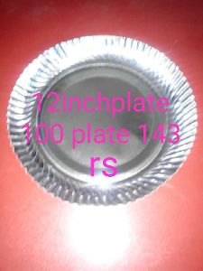 12 Inch Silver Paper Plates