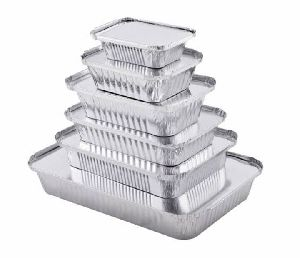 Silver Foil Food Container