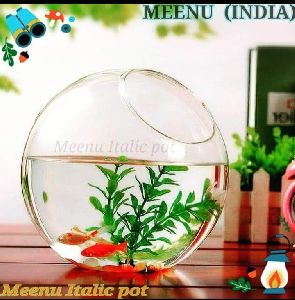 Table Top Borosilicate Glass Ball Shape Italic Planter