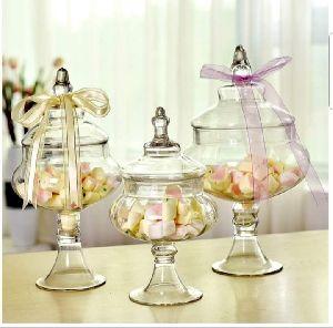 Borosilicate Glass Decorative Pot with Lid