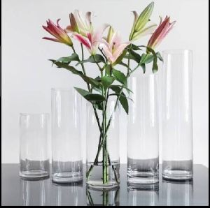 Glass Cylinder Square Pots
