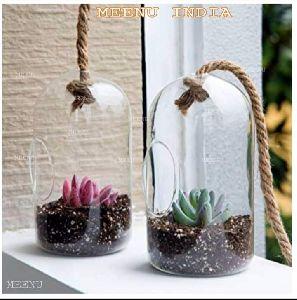 Hole Hanging Borosilicate Glass Planter