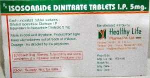 Isosorbide Dinitrate Tablets BP 5 mg