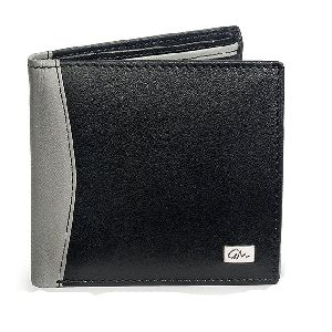 Leather Gents Wallets Gray Black