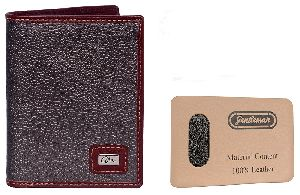 Leather Notebooks Wallet Brown