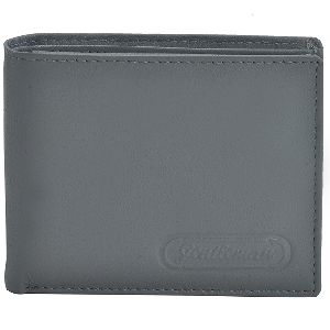 Leather Wallet Gray