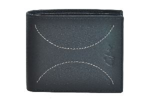 Leather Wallet Men Black