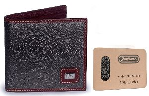 Textured Wallet Leather Brown