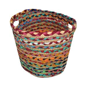 Chindi and Jute Basket