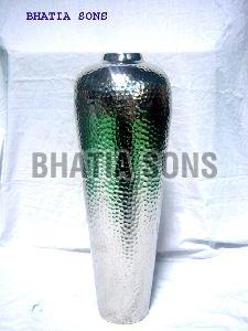 Aluminum Hammered Flower Vase
