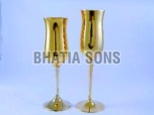 Brass Goblet Flute
