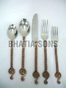 Bronze Handle Cutlery Set