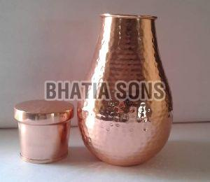 Copper Jug and Tumbler Set