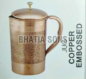 Embossed Copper Jug