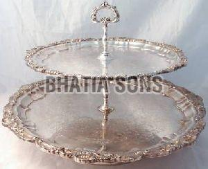 Silver Plated 2 Tier Platter