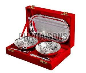 Silver Plated Bowl Gift Set