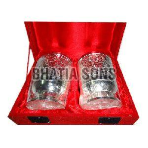 Silver Plated Glass Gift Set