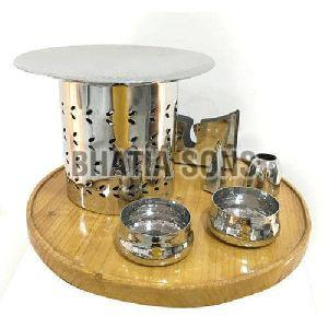 Stainless Steel Snack Warmer Set