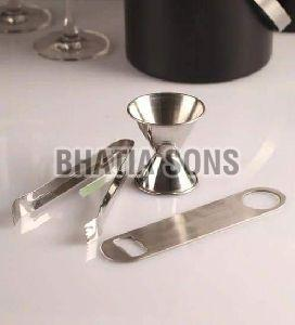Stainless Steel 3 Piece Bar Set