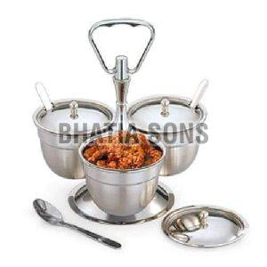 Stainless Steel Revolving Pickle Stand