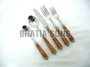 Wooden Handle Cutlery Set