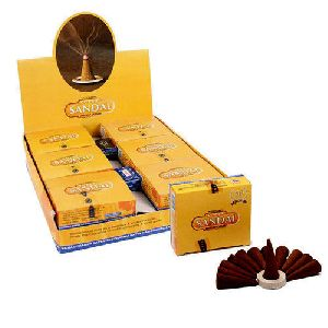 Satya Super Sandal Temple Incense Cones