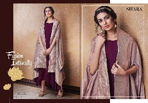 Nitara Launched Lotus Dola Silk Fabric Long Gown Type Fancy Designer Kurtis
