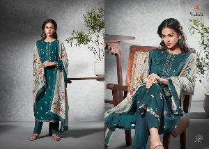 Sudriti Launched Mahak Pashmina Print with Embroidery Work Salwar Kameez
