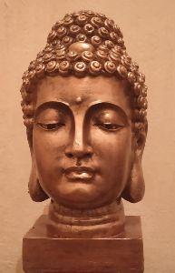 Fiberglass Buddha Head Statue
