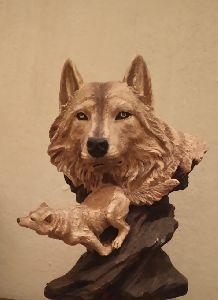 Fiberglass Wolf Statue