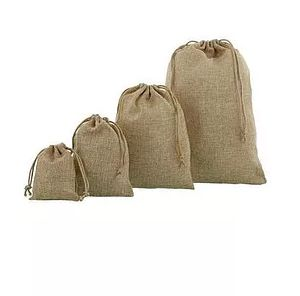 Brown Jute Drawstring Bags