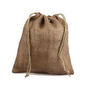 Small Jute Drawstring Bags