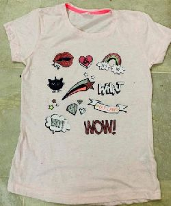 Girls Half Sleeve T-shirt