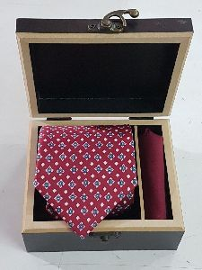 wooden tie and cufflinks boxes.