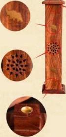 Wooden Tower Incense Holder