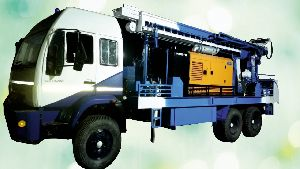 300m depth Man truck mounted drilling rig