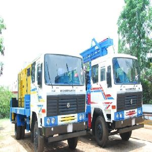 600m Truck Mounted Dth Cum Rotary Refurbished Water Well Drilling Rig for Sale