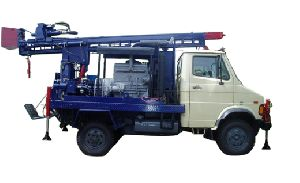 mini pickup truck mounted water well rotary drilling rig for sale